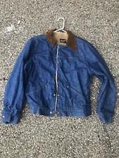 VTG Wrangler Lined Denim Jean Jacket Western Made In USA
