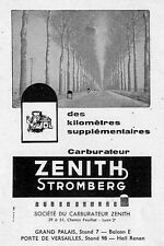 LYON CARBURATEURS ZENITH STROMBERG PUBLICITE ADVERTISING 1957
