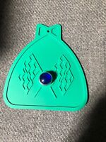 GREEN BICYCLE MUD FLAP  FITS SCHWINN WITH RED JEWEL SOLID GREEN