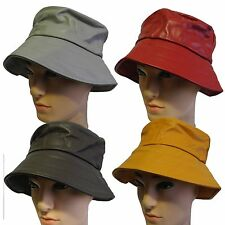 Made in USA Summer 100% genuine leath foldable round bucket hat fedora cap