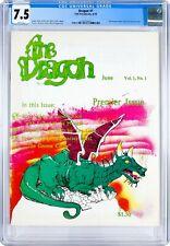 Dragon Magazine #1 -TSR- Gygax- HIGHEST CGC GRADED COPY EVER!! 7.5