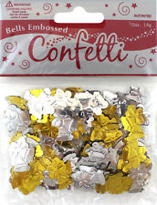 Wedding Gold Silver Bells Christmas Party Confetti Foiletti Decoration 14-84g