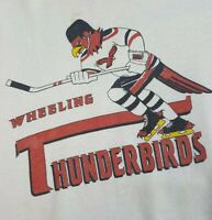 Vtg Wheeling Thunderbirds Crewneck Sweatshirt XL Throwback Hockey ECHL Nailers
