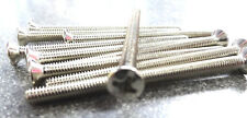 10 x M3.5 x 50mm extra long chrome screws for socket & light switch