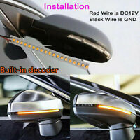 2x Dynamic LED Car Side Rearview Mirror Turn Signal Indicator Light Strips 15cm