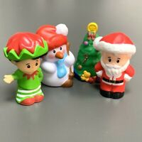 4PCS Fisher Price Little People SNOWMAN & SANTA CLAUS &TREE Figure Toy Xmas Gift
