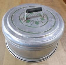 Vintage Carlton Aluminum Cake Saver Carrier with Green design   f