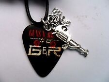 GUNS N ROSES  Guitar Pick  / Plectrum and GNR Charm Leather  Necklace