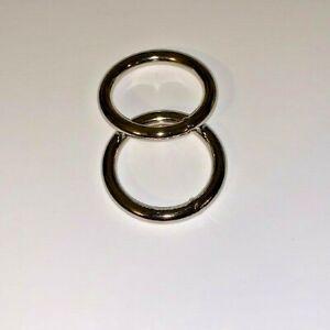 Metal O Ring, 1 inch / 25mm Inside Diameter, Nickel, Set of 2