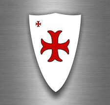 Sticker car biker maltese shield airsoft decal crusader cross templar knights A