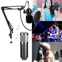 BM800 Dynamic Condenser Wired Microphone Audio Studio Recording Mic w/ Stand Kit