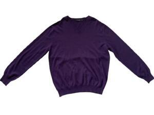 Ermenegildo Zegna Purple Premium Cashmere Sweater  XL $895