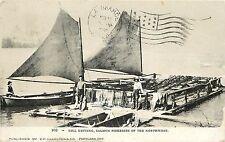 c1908 Postcard; Gill Netting Nets on Dock, Salmon Fishing in Northwest, Oregon