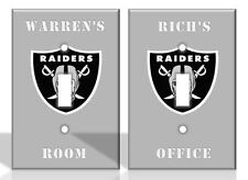 PERSONALIZED Las Vegas Raiders Light Switch Covers NFL Football Home Decor