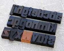 a-z Holzbuchstaben 54mm alte Plakatlettern Buchstaben letterpress wood type typo