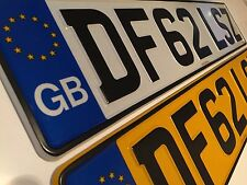 Pressed Metal GB Number Plates 100% UK Legal Pair Inc Free Post And Fixings FIAT