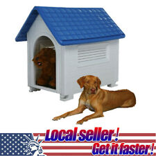 Large Deluxe Extra Large Pet Dog Cat House Home Outdoor Cage Resin All-Weather.