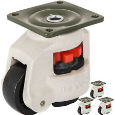 Leveling Casters Gd 80f Set Of 4 Nylon Wheel High Wearability Footmaster Caster