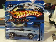 Hot Wheels 1965 Corvette #170 Blue Short card