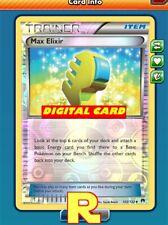Max Elixir (FOIL) - for Pokemon TCG Online ( DIGITAL ptcgo in Game Card)