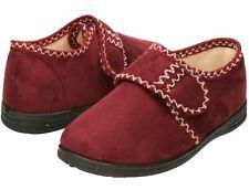 ladies slipper shoe hook & loop size UK 7 warm micro fleece lining betty monk