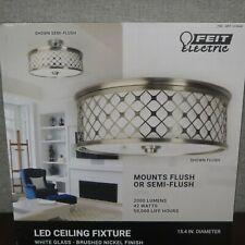 """New- Feit 15.4"""" Round Adjustable Flush/Semiflush Mount LED Ceiling Fixture"""