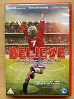 Believe DVD 2013 British Manchester United Football Soccer Film w/ Brian Cox