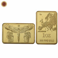 WR 24K Gold Bullion Bars Jesus Christ On The Cross Territory Design Collect Gift