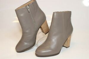 Vionic Womens Size 5 Wide 36 Kennedy Leather Side Zip Heeled Ankle Boots TVW4980