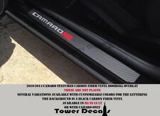 Camaro door sill carbon fiber vinyl racing decal kick plate RS SS LT LS 5th Gen