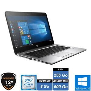 "HP 840 G3 i5 6300U 8Go SDD 256Go + HDD 500Go 14"" HD WIN10 PRO 64 GARANTIE 1 AN"