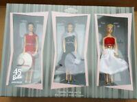 Hallmark Keepsake Barbie Set Friendship Fashion & Fun 45th Anniversary Figures