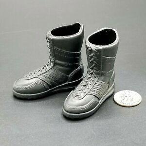 "1:6 Ultimate Soldier Mens Black SWAT Boots 12"" GI Joe Dragon Combat Army GSG9"