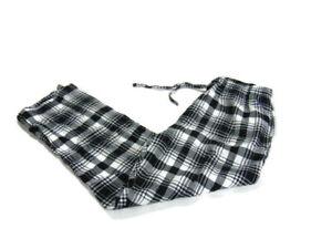 Polo Ralph Lauren Pants Black White Plaid Elastic Waist Drawstring Lounge Mens L