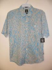 VOLCOM Men's EVERETT PRINTS S/S Button Shirt - GRB - Medium - NWT
