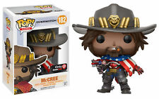 Funko POP Overwatch McCree USA American Flag Gamestop Exclusive *MINT BOX*