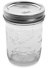 Ball Regular, Mouth Clear-Glass, Mason Jars, 8oz, Canning Preserve Lids 12 Pack