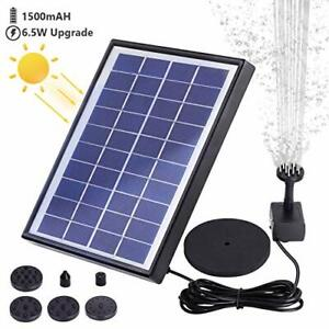 AISITIN Solar Fountain Pump 6.5W Panel with Battery Backup Solar Water Pump