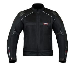 Summer MCW Mens Mesh Air Vent Motorcycle Motorbike Armour Jacket CE Protector