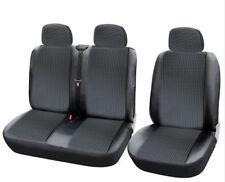 2+1 Negro fundas para asientos LUJO DE Alta Calidad Ford IVECO MERCEDES-BENZ