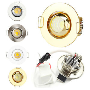52mm 3W Mini Dimmable LED Recessed Ceiling Downlight Spotlight Bulb Lamp +Driver