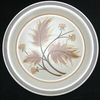 Mikasa Country Squire Chop Plate Platter Brown Leaves Hallcraft Stoneware Japan