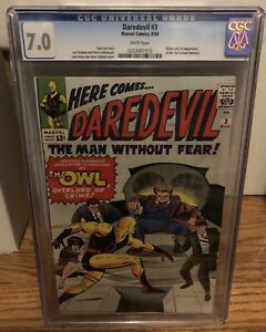 Daredevil 3 CGC 7.0 White Pages 1st Appearance Of Owl