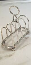 More details for antique silver plate supper small toast rack