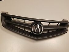 06 07 08 Acura TSX Front Grill Grille All Black with OEM Emblem Whole Kit