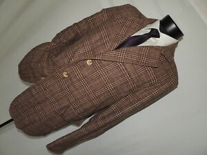 Doctor Who BBC Brown plaid jacket size LARGE- EXTRA LARGE