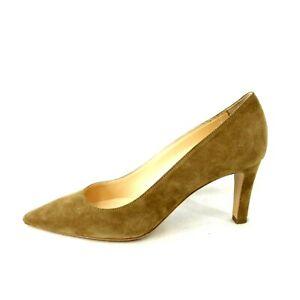 Mia Letizia Women's Shoe Women's Shoes Pumps Braun Leather Suede Pointed New