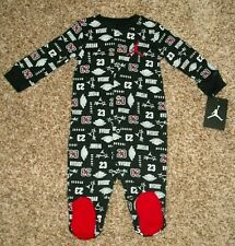 Air Jordan Gray Baby Boy 6 9 Months Long Sleeve Black Footed Coverall Pajama