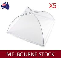 5X COLLAPSIBLE MESH FOOD COVER NET FLY BBQ OUTDOOR SQUARE 40X40 CM AU STOCK