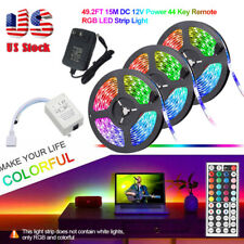 49FT luz de tira flexible 3528 luces RGB LED SMD Remoto Hada Sala Tv Fiesta Bar